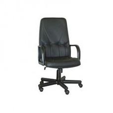 Кресло Менеджер ТГ подлокотник пластиковый, кожзам черный