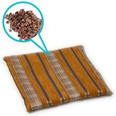Подушка из гречихи Л042 40 х 40 см, гобелен (из гречневой лузги)