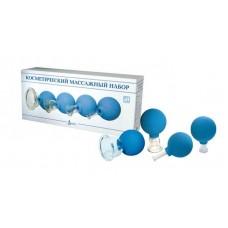 Банки массажные стеклянные БВ-01-АП-4 (косметический массажный набор)