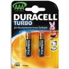 Элемент питания (батарейка) Duracell LR03-2BL Turbo AAA 2шт.